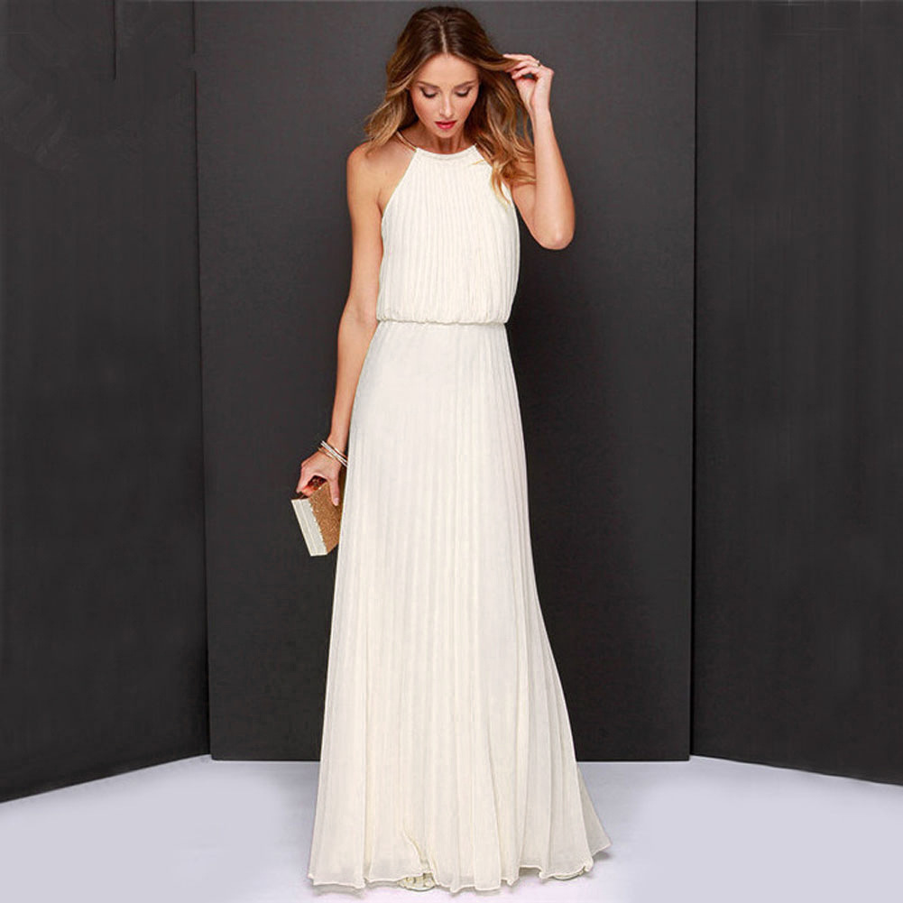 Beach Tunic Chiffon Long Dresses Boho Elegant Gown Dress Party Maxi ...