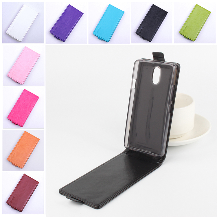 Moda 9 colores Flip Funda de cuero para Lenovo Vibe P1M P1ma40 P1mc50 5.0 pulgadas Vertical Back Cover Open Up and Down
