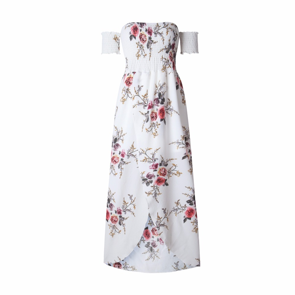 HTB14ujeiYYI8KJjy0Faq6zAiVXaH - Boho style long dress women Off shoulder beach summer dresses Floral print Vintage chiffon white maxi dress vestidos de festa