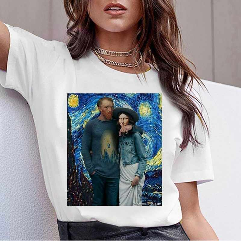 Grunge Aesthtic Van Gogh T Shirt Art Painting T Shirt Women Funny Short Sleeve T-shirt Harajuku Ullzang Tshirt Top Tees Female