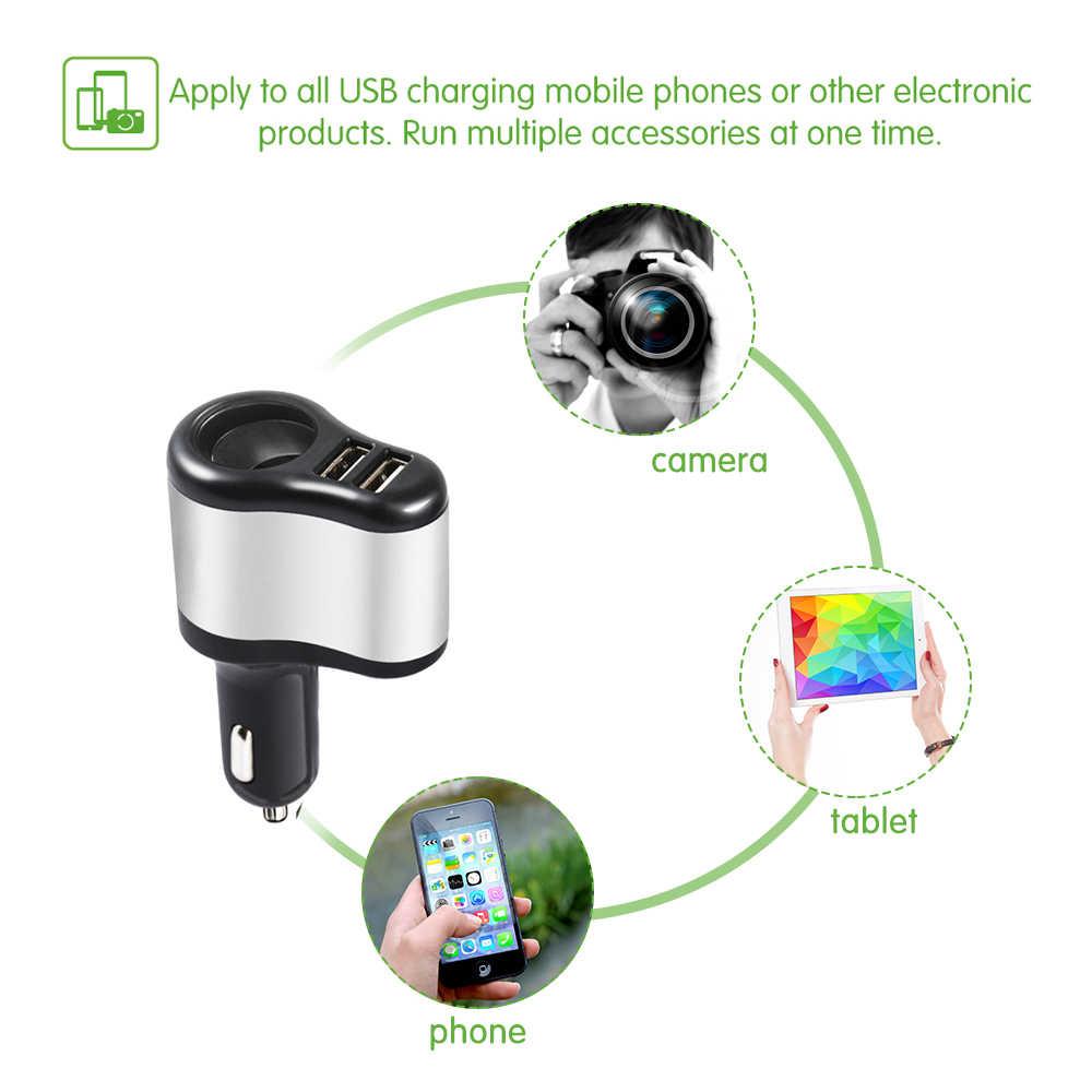 Двойной USB Электронная сигарета зажигалка автомобильного прикуривателя Зарядное устройство гнездо сплиттер адаптер 3.1A Зарядное устройство для iPhone телефон 12 V-24 V