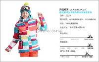 бесплатная доставка женская большой сетки водонепроницаемый сноуборд куртка девушки ветрозащитный лыжный костюм лыжная куртка утепленная одежда для лыжников в skee анорак