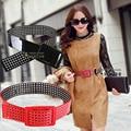 2016 Мода Новый Специальный Clearance Продажа Корейский Лакированной Кожи Черного Пояса Все Матч Простой Полые Дамы Большой Талии Украшения