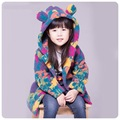 Children Clothing Kids Girl Colorful Velvet Coat Baby Child Hoodies Thicken Baby Girls Jacket Autumn And Winter