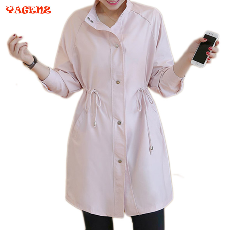 2017 Autumn Spring Women Trench Coat Women Fashion Cloak Polerones Mujer Spring Windbreaker Female