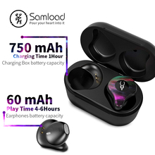 Samload True Wireless Earphones Bluetooth 5.0 ear bud Deep bass Headphones Sweatproof Sport Headset For Apple iPhone 5s 6 7s 8 X