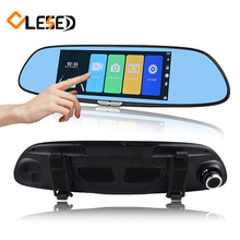 7″ Touch Screen car camera rearview mirror auto dvrs cars dvr dual lens recorder registrator full hd1080p night vision dash cam