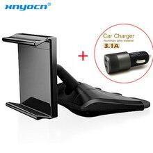 Universal authentic Korean car phone holder mount CD Smart phones CD holder 2.1A+1A Dual USB Port USB cargador coche de carga