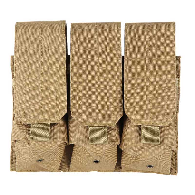 Outdoor Hunting Pouch Airsoft Molle Tactical Triple Mag Magazine Pistol Handgun Shooting Combat Vest Tool Dump Drop Bag