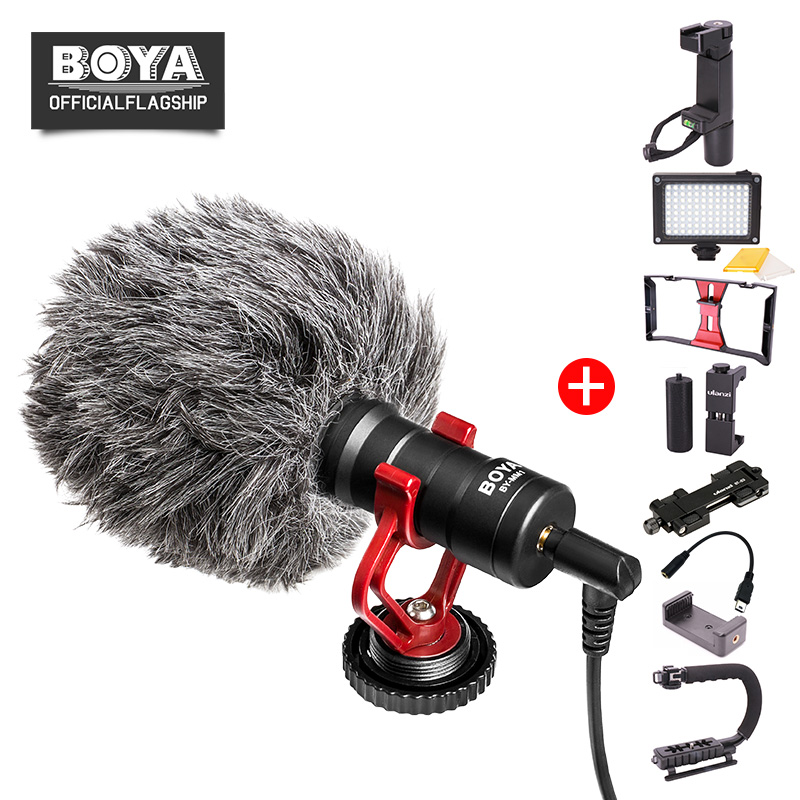 BOYA BY-MM1 Shotgun Vidéo Microphone Youtube Live Streaming Vlogging pour iPhone Android Lisse Q DJI Canon Nikon Caméra Gopro
