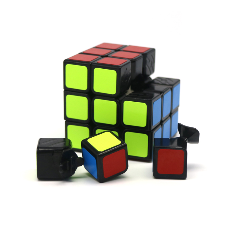 57mm Professional font b Magic b font Toys 3x3x3 PVC Sticker Frosted Block Puzzle Speed font
