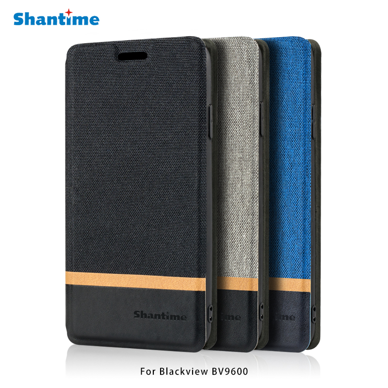 Canvas PU Leather Phone Bag Case For Blackview BV9600 Pro Flip Case For Blackview BV9600 Business Case Soft Silicone Back Cover
