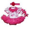 Nova páscoa bebe roupas de bebê menina macacão dress roupas infantis meninas define 3 pcs algodão macacão roupa roupas de recém-nascidos bebe