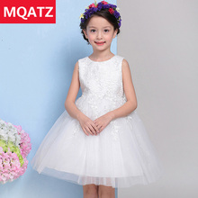 2017 Summer Pure White Lace Baby Girl Dress Flower Girl Dresses For Weddings Ball Gown Princess