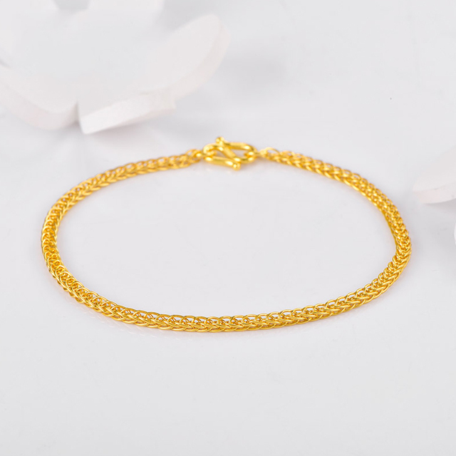 XX24K Pure Gold Bracelet Real 999 Solid Gold Bangle Shiny Charming Beautiful Trendy Classic Party Fine Jewelry Hot Sell New 2020 4