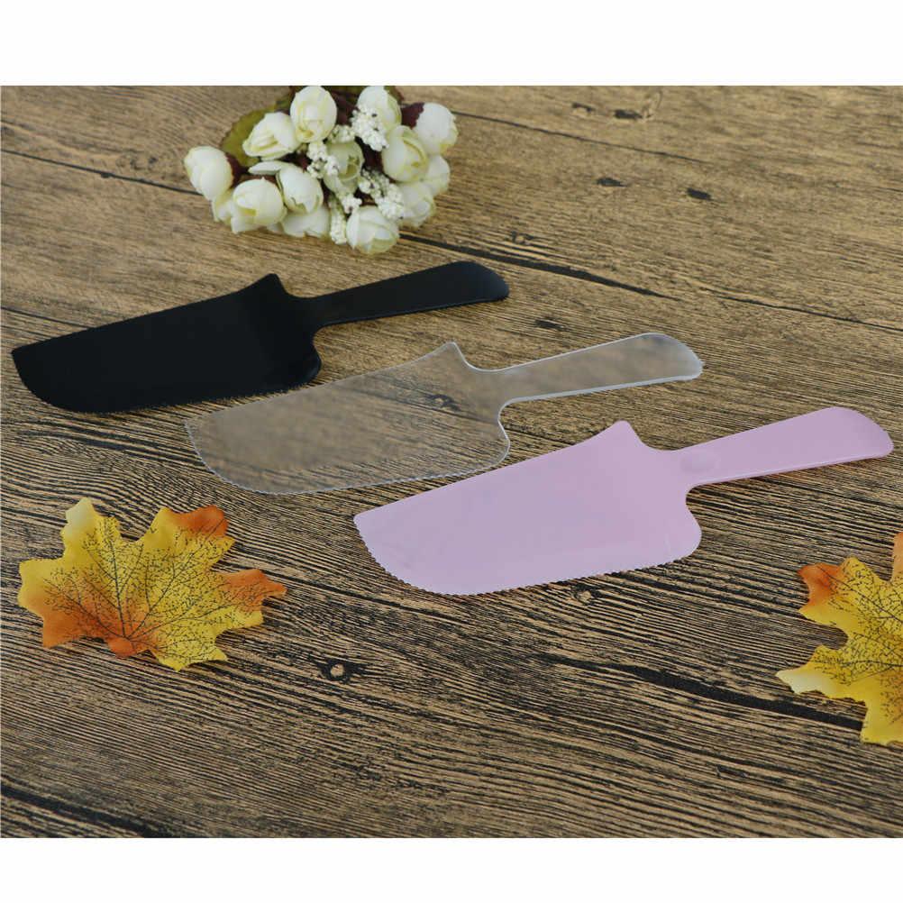 Espátula de plástico Fondant pastel cortador pastel crema cuchillo más suave glaseado espátula Diy Herramienta 1 PC 3 colores