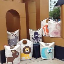 Venda quente Canadá marca dobrar cesto de roupa suja cesta de armazenamento roupas sujas saco para o brinquedo material de proteção ambiental para crianças AY-2