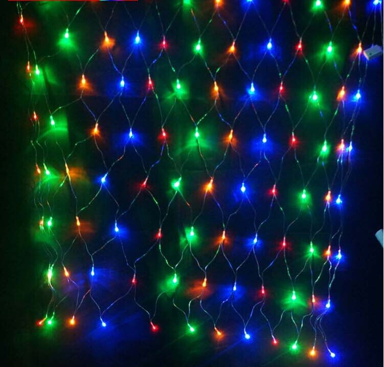 120Leds 1.5x1.5 Meter Net Led Lights Christmas Wedding Party Waterproof Red  Blue Yellow Green Pink White Color Free Shipping In Holiday Lighting From  Lights ...