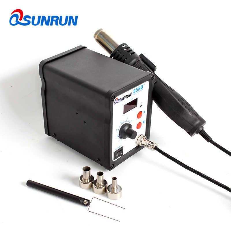 700 واط 858D + ESD محطة لحام LED الرقمية مصلحة الارصاد الجوية لحام Blowser مسدس هواء ساخن