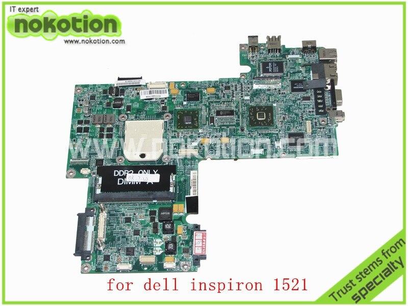 CN-0WP042 WP042 DA0FX5MB8D0 REV D MY334 For Dell Inspiron 1521 Laptop motherboard AMD 15.4 Inch DDR2 Mainboard cn 0md666 laptop motherboard for dell inspiron 6400 e1505 da0fm1mb6f5 rev f 945gm ddr2 mainboard mother boards