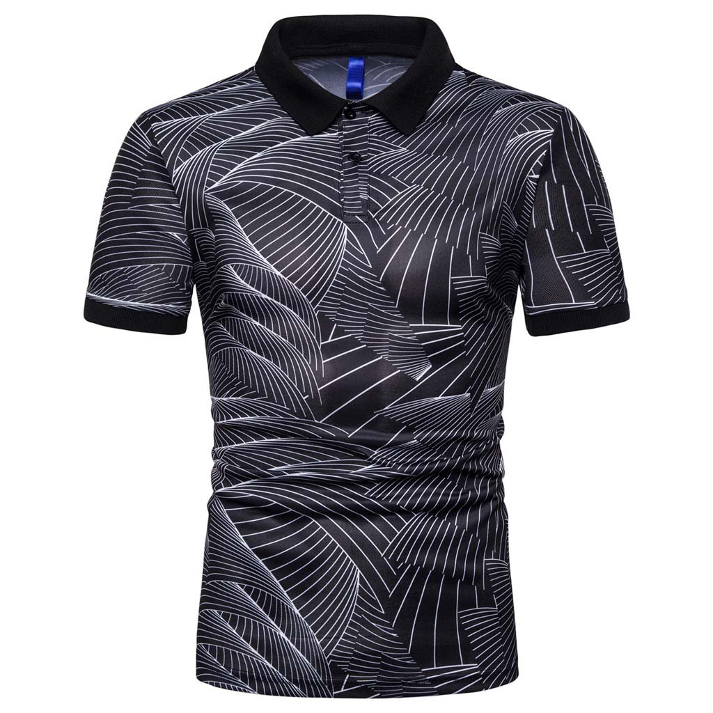 2019 New Men's Fashion Cotton Short Sleeve Polo Shirts Male Solid Jersey Breathable Blouse Tops