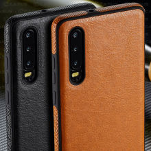 For Huawei P30 Pro case Luxury Vintage Leather Back Thin Case Cover P20  Lite