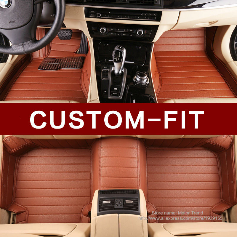 Custom fit car floor mats for Cadillac ATS CTS SRX SLS Escalade 3D car styling all weather carpet floor liners