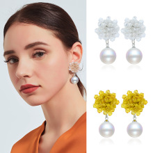 Pearl Drop Earrings 2019 New Elegant Pendant Beading Long For Women Simulated Beads Fashion