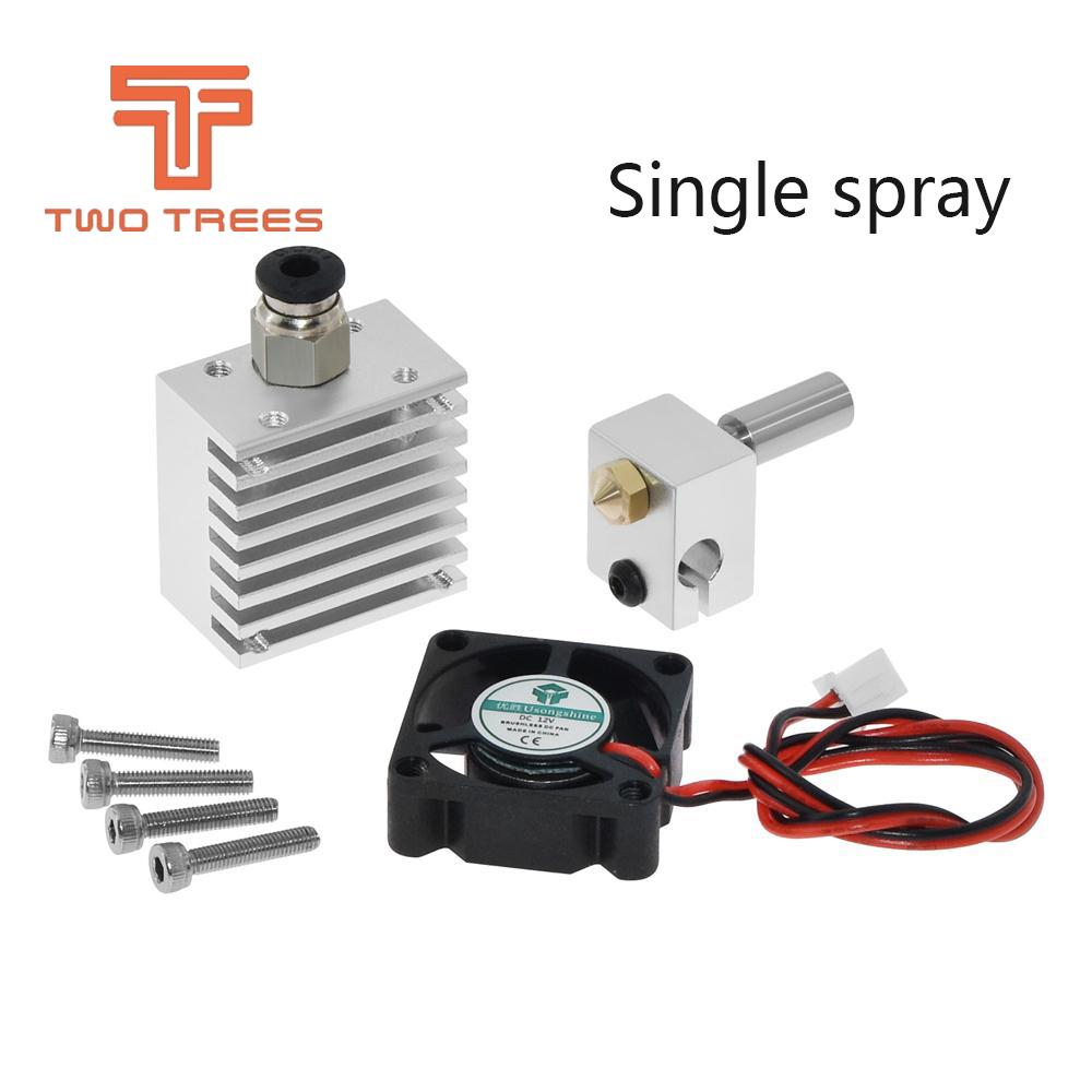 3D Chimera Hotend Kit  2 IN 2 OUT extruder Multi-extrusion All metal V6 Dual Single extruder 0.4mm1.75mm 3D printer parts (3)