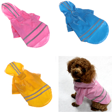 Waterproof Pet Dog Raincoat Hooded Reflective Strip Pet Dogs Cats Clothes Small Medium Puppy Hooded Pet Supplies C42