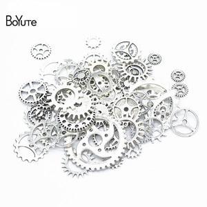 Image 5 - BoYuTe (500 gramme/lot) mélange Styles métal Steampunk engrenages bricolage vapeur Punk alliage bijoux accessoires
