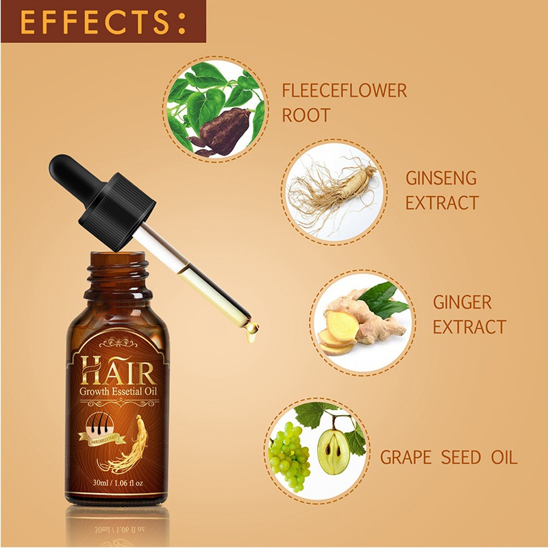 Fast Hair Growth Essential Oil For Women and Men Effective Hair Loss Treatment Regrowth Ginger Serum Hair Health Care