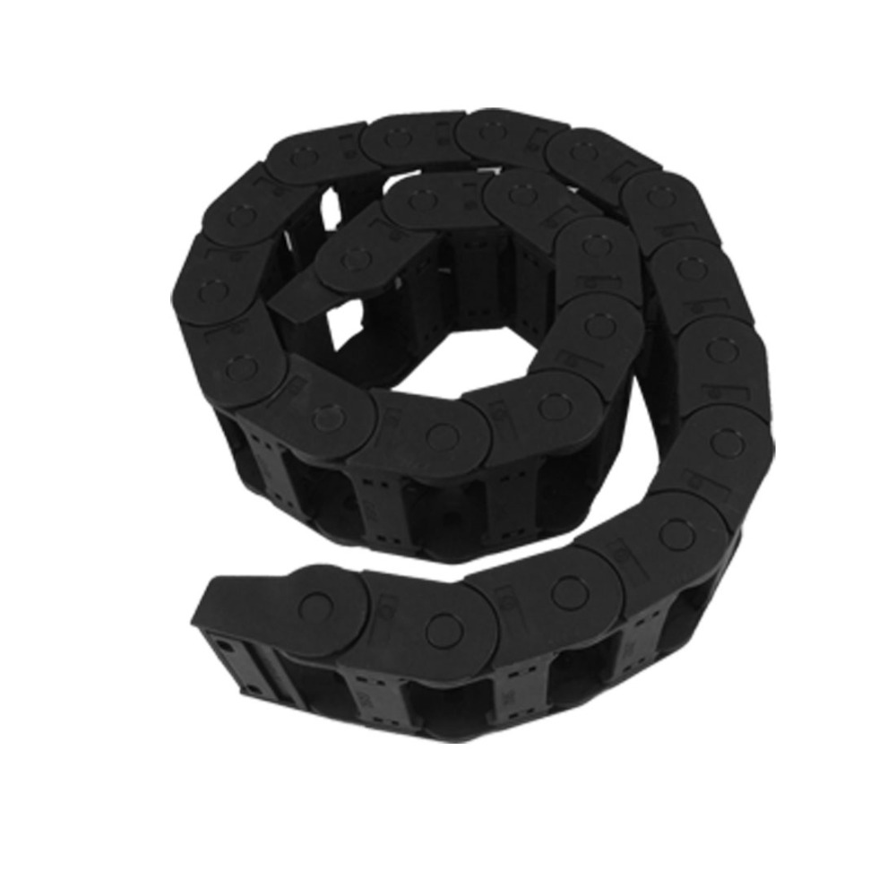 18 x 37mm Flexible Semi Enclosed Type Cable Carrier Drag Chain 42.9 1.09m Length for CNC Machine Tools 3D Printer 18 x 50mm 1m semi enclosed type drag chain wire carrier black