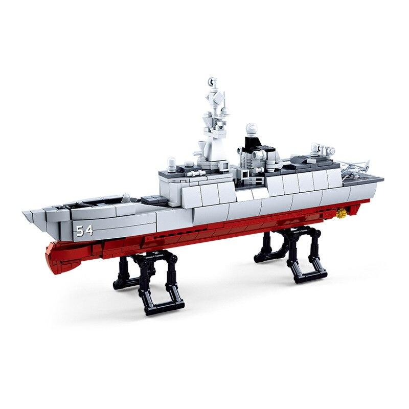 459pcs Children s building blocks toy Compatible city military Frigate DIY figures Bricks boy best birthday