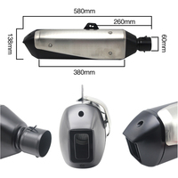 ZS MOTOS Universal Motorcycle Muffler Silencer Exhaust pipe for BMW G310 GS G310R R1200 GS for Honda NC750X CBF1000 CRF1000L