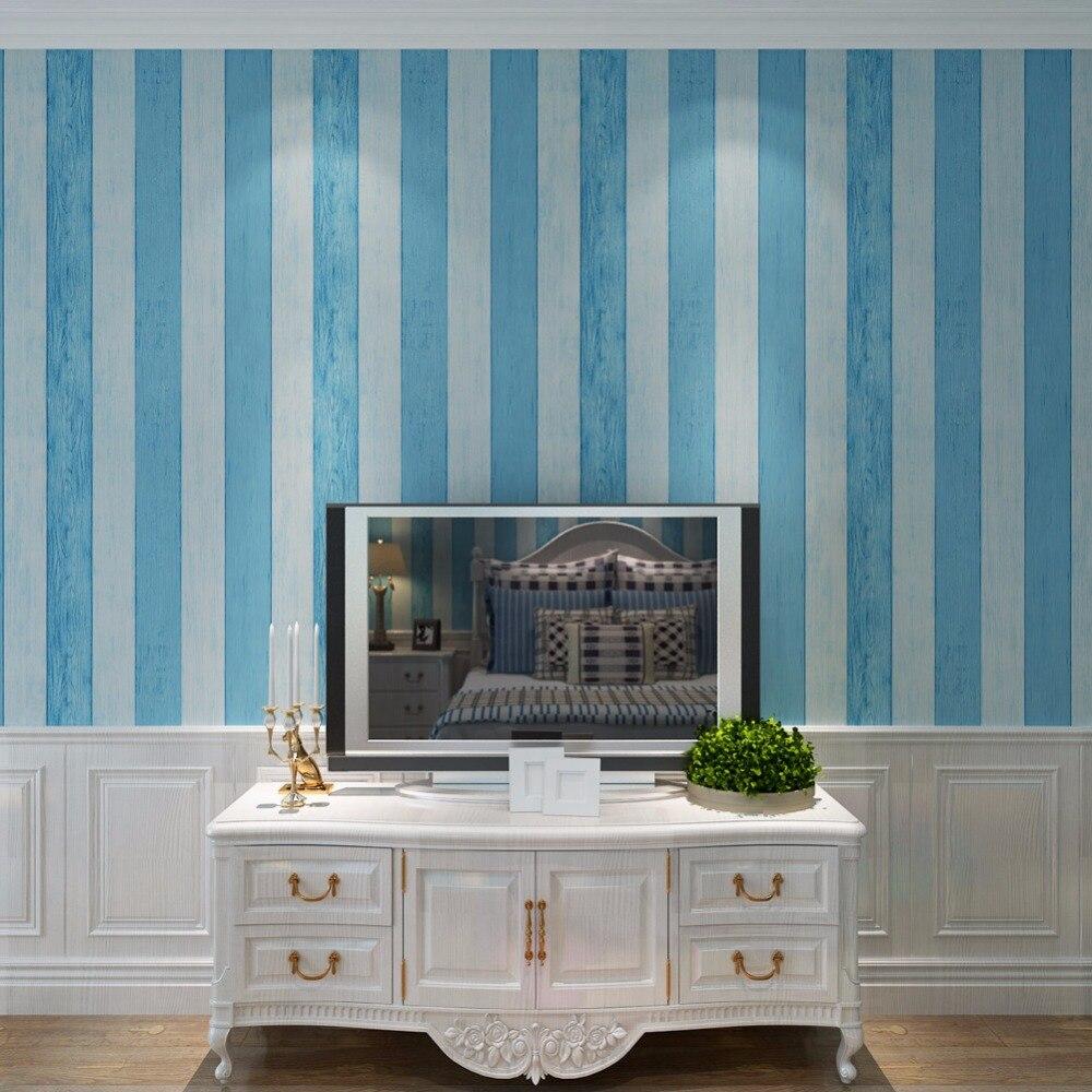 Navy blue wallpaper for walls - Online Shop Navy Blue Wallpaper For Kids Room Non Woven 0 53 10m Wall Covering Modern Stripe Wallpaper Qz0530 Aliexpress Mobile