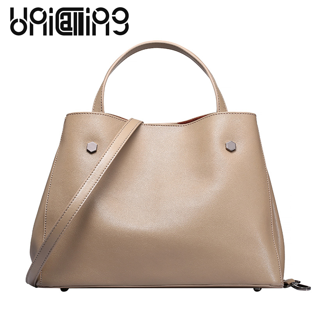 New hot sale trendy women handbag detachable interior bag multifuntional handbag ladies crossbody shoulder bag cow split leather
