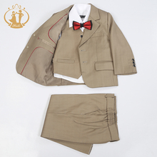Nimble Boys Formal Suit Single Breasted Solid New School Kids Wedding Suit jogging garcon terno menino costume garcon