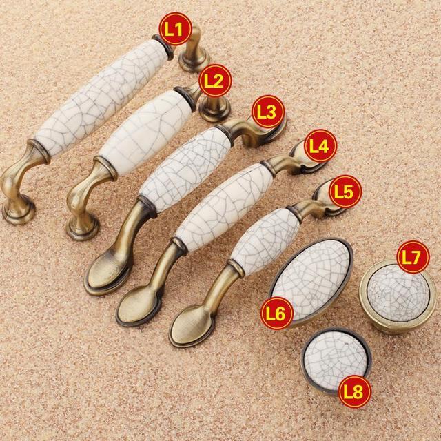 5 unids tiradores muebles de cocina manijas de cer mica for Armarios de cocina antiguos