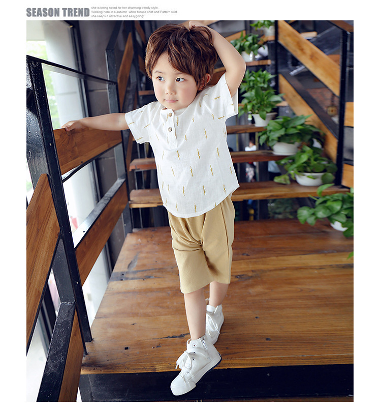 2019 New Kids Clothes Spring Boys Clothing Sets T Shirt + Shorts Toddler Boys Clothing Baby Boy Fluid Systems Clothes Brand 32