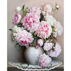 Europe Pink White Flower DIY Painting By Numbers Unique Gift Acrylic Paint By Numbers Hand Painted Wall Stickers LA4