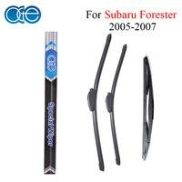 НГЕ спереди и сзади стеклоочистителей для Subaru Forester 2005 2006 2007 Высокое качество резиновая лобовое стекло автомобиля Интимные аксессуары