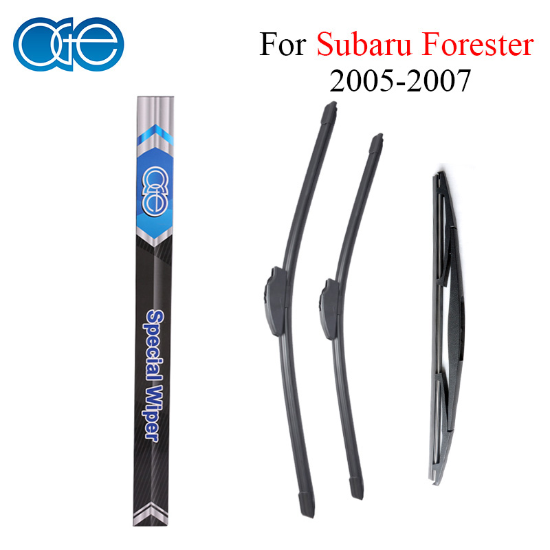 все цены на Oge Front And Rear Wiper Blades For Subaru Forester 2005 2006 2007 High Quality Rubber Windshield Car Accessories онлайн