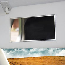 Hot 15*8CM Practical Design Auto Car Makeup Mirror Universal Car Interior Sun-Shading Stainless Steel Cosmetic Mirror Supplies(China)