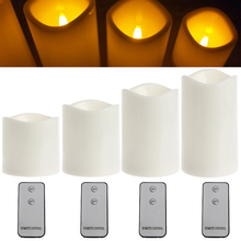 Беспламенный светодиодный светильник для чая с дистанционным управлением, светильник для свадебной вечеринки, романтический декор