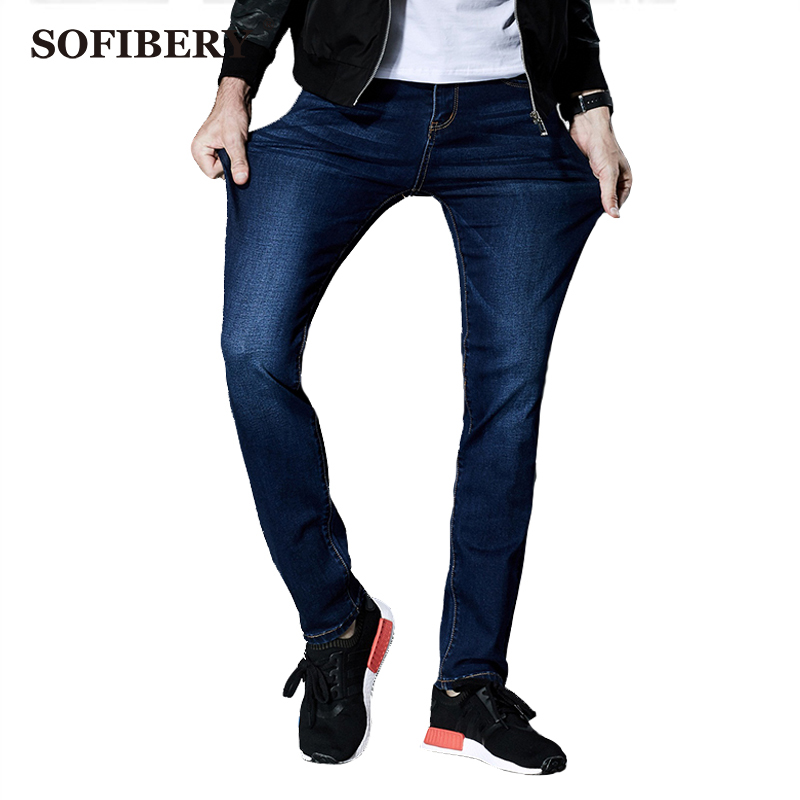 ФОТО SOFIBERY seasons high stretch jeans Slim jeans big yards 28-44 men's jeans Fall in prices  Free shipping M942-8917