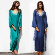 Women Beachwear Turkish Kaftans Long Swimsuit Cover up Caftan Beach Dress