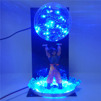 Dragon Ball Z Figure Sun Goku Genki damaSpirit Bomb LED Night Light Dragon Ball Super Saiyan Goku Table Lamps for the Bedroom
