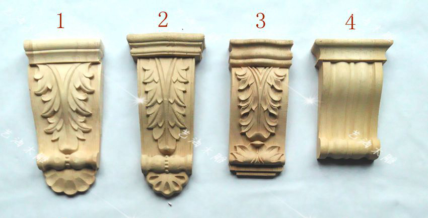 Style column wood carving decoration corbels
