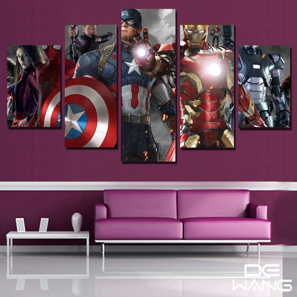 Gerahmte HD Gedruckt film Super Hero Avengers Captain America ...